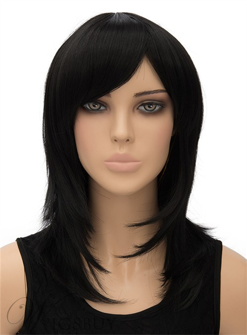 Hot Sale Medium Straight Capless Synthetic Hair Wig 16 Inches 12404780