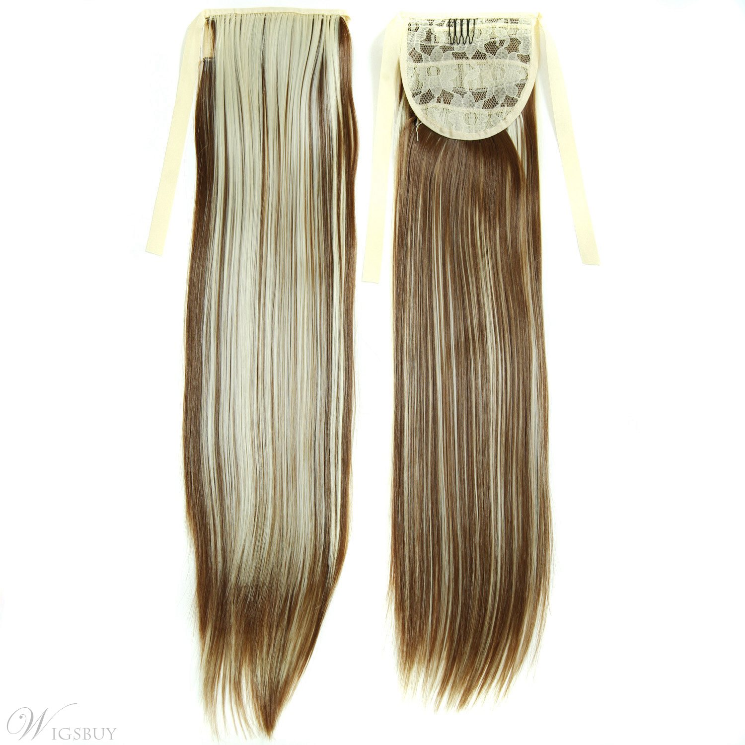 Long Straight Lace Up Synthetic Ponytail