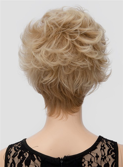 Hot Sale Short Wavy Capless Synthetic Hair Wig 8 Inches