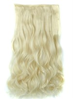613# long Wave One Piece Clip en cheveux Extension 24 pouces synthétique Materical