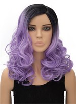 Light Purple Long Wavy Capless Synthetic Hair Wig for Cosplay 18 Inches