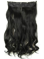 2#TL Mix Color Long Wave One Piece Clip In Hair Extension 24 Inches