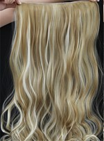 22TH613 Mix Color Long Wave One Piece Clip In Hair Extension 24 Inches