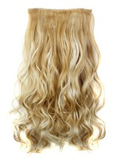27H613 Mix Color Long Wave Synthetic One Piece Clip In Hair Extension 24 Inches