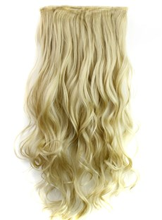 24M613 Mix Color Synthetic Long Wave One Piece Clip In Hair Extension 24 Inches