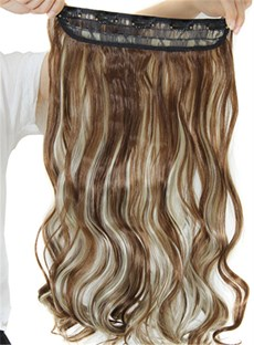 50 inch synthetic hair extensions wigsbuy 12h613 mix color synthetic one piece clip in hair extension 24 inches pmusecretfo Images