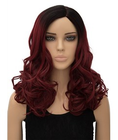 Beautiful Long Wavy Capless Synthetic Hair Wig 18 Inches for Cosplay