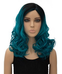 New Long Wavy Capless Synthetic Hair Wig 18 Inches for Cosplay