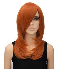 Long Straight Capless Synthetic Hair Cosplay Wig 20 Inches