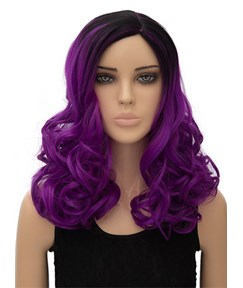 Colored Long Wavy Capless Synthetic Hair Wig 18 Inches for Cosplay