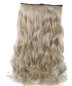 16H613 Mix Color One Piece Clip In Hair Extension Long Wave 24 Inches