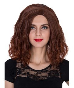 Medium Wavy Capless Synthetic Hair Cosplay Wig 14 Inches