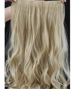 22TM613 Mix Color Long Wave One Piece Clip In Hair Extension 24 Inches
