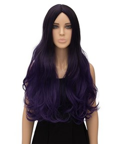 Purple Long Wavy Capless Synthetic Hair Wig 26 Inches