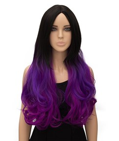 Colored Long Wavy Capless Synthetic Hair Cosplay Cosplay Wig 26 Inches