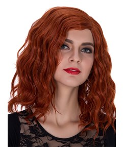New Medium Wavy Capless Synthetic Hair Cosplay Wig 14 Inches