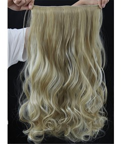 Mix Color 24H613 Long Wave One Piece Synthetic Clip In Hair Extension 24 Inches