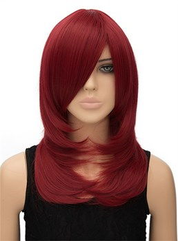 New Long Straight Capless Synthetic Hair Cosplay Wig 20 Inches