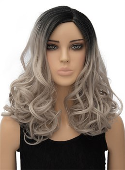 Long Wavy Capless Synthetic Hair Wig 18 Inches for Cosplay