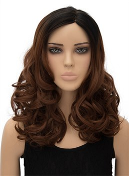 Long Wavy Capless Synthetic Hair Cosplay Wig 18 Inches