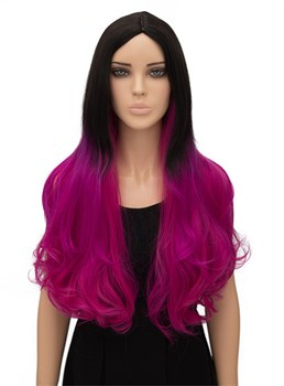 Colored Long Wavy Capless Synthetic Hair Wig 26 Inches