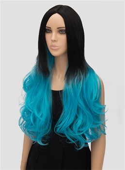 Long Wavy Capless Synthetic Hair Wig 26 Inches for Cosplay