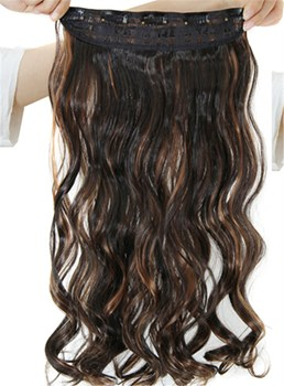 2H30 Mix Color One Piece Clip In Hair Extension Synthetic Material
