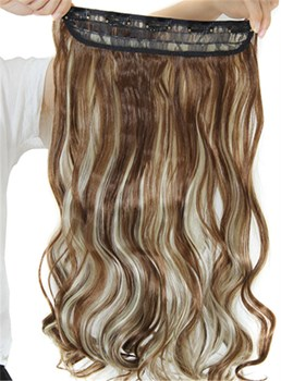 12H613 Mix Color Synthetic One Piece Clip In Hair Extension 24 Inches