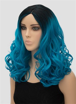 Hot Long Wavy Capless Synthetic Hair Wig for Cosplay 18 Inches