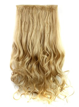Mix Color 27M613 Long Wave Synthetic One Piece Clip In Hair Extension 24 Inches