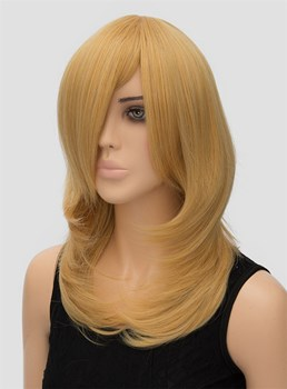 Golden Long Straight Synthetic Hair Wig for Cosplay