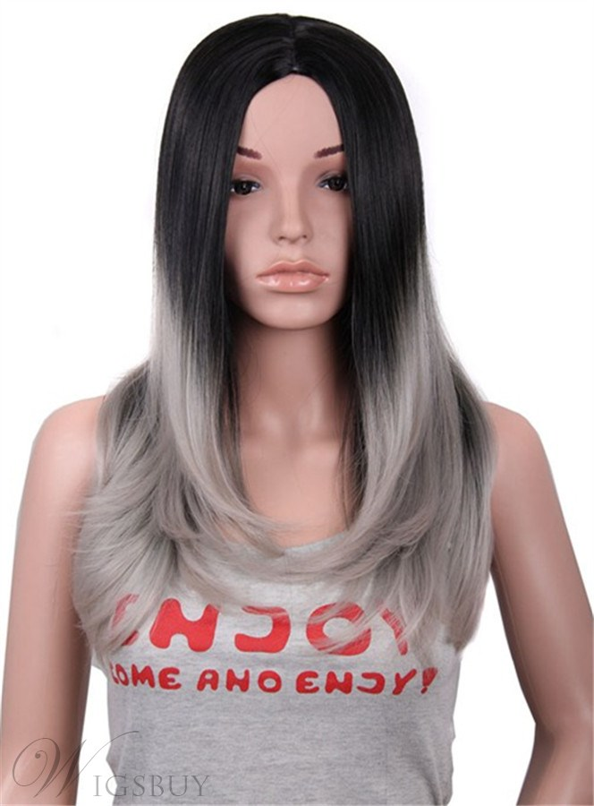 Long Straight Granny Synthetic Capless Women Wigs 26 Inches 12423644
