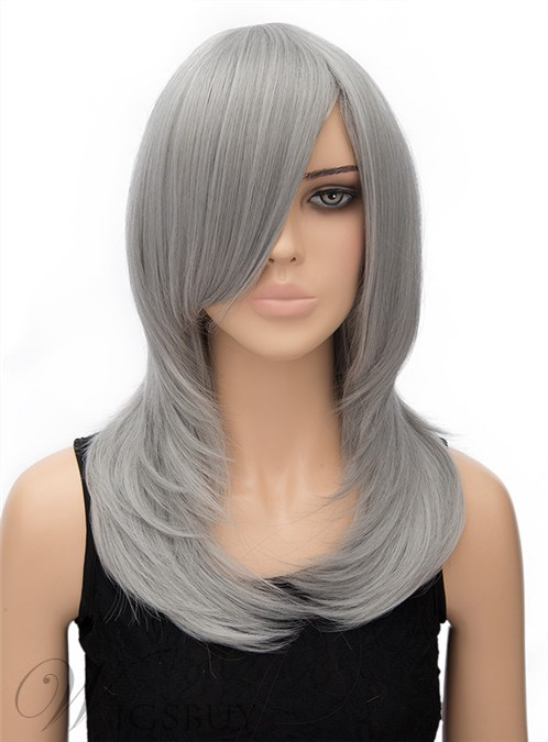 Gray Long Cosplay Wigs 2