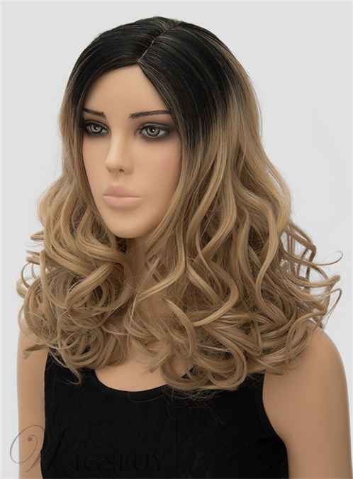 back of hair styles wavy capless synthetic hair wig 18 2169