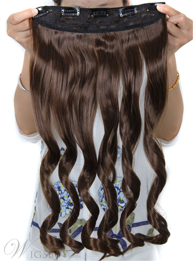 One Piece Body Wave Synthetic Clip In Hair Extension