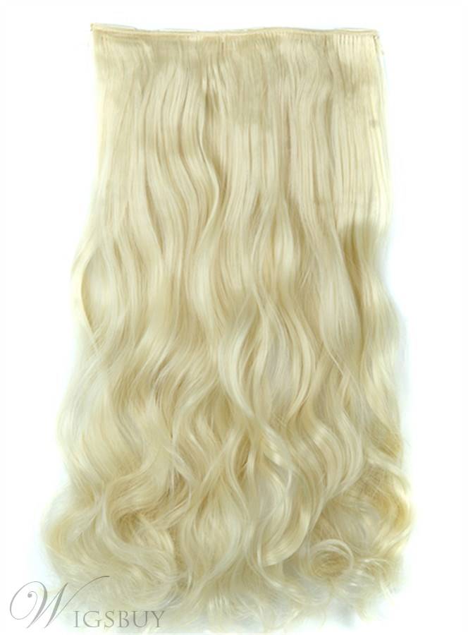 613 Long Wave One Piece Clip In Hair Extension 24 Inches Synthetic