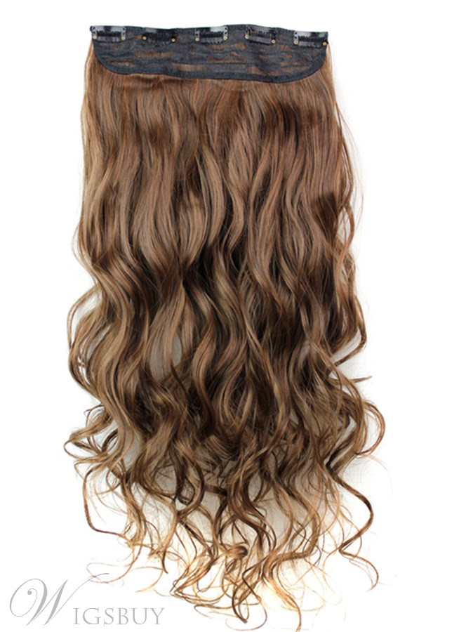 230 Mix Color Synthetic One Piece Clip In Hair Extension 24 Inches