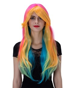 Colorful Long Wavy Capless Synthetic Hair Wig 30 Inches