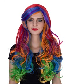 Colorful Long Wavy Capless Synthetic Hair Wig 26 Inches