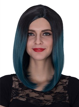 Colored Medium Straight Capless Synthetic Hair Wig 14 Inches for Cosplay