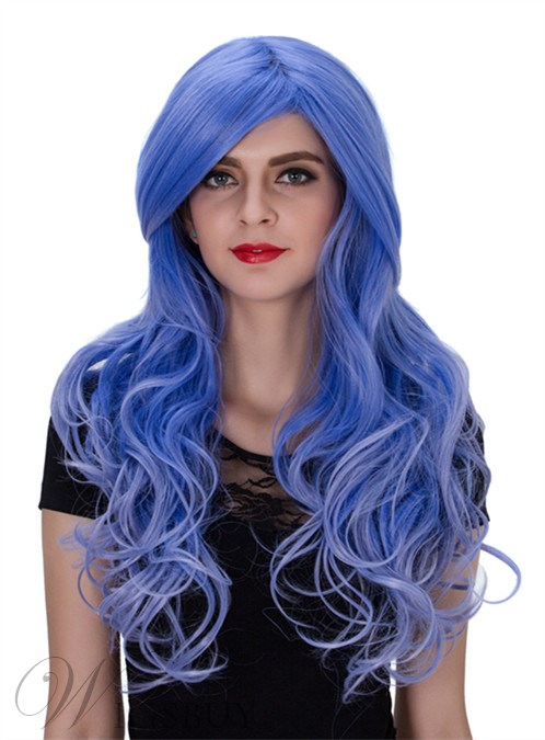 Cosplay Long Wavy Synthetic Hair Capless Wig 26 Inches
