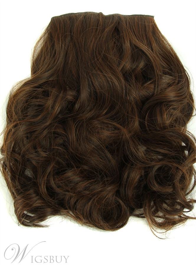 Long Wave Sythetic Hair 7 PCs Clip In Hair Extensions 24 Inches