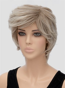 Layered Fluffy Short Wavy Capless Synthetic Hair Wig 10 Inches