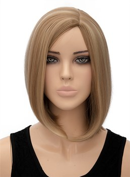 Elegant Medium Straight Synthetic Hair Capless Wig 12 Inches