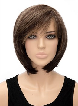 Cute Medium Straight Capless Synthetic Hair Wig 12 Inches