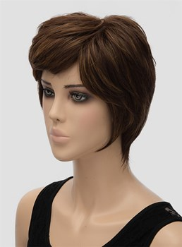 New Layered Short Wavy Capless Synthetic Hair Wig 8 Inches