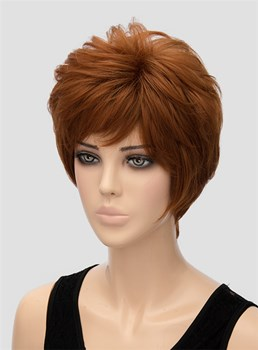 Best Selling Fluffy Short Wavy Capless Synthetic Hair Wig 8 Inches