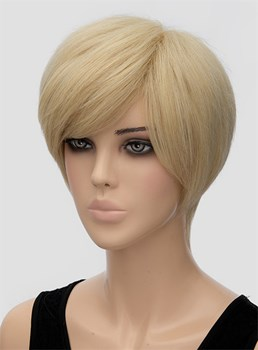 Layered Short Straight Capless Synthetic Hair Wig 10 Inches
