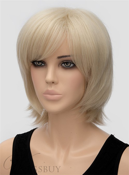 Graceful Medium Straight Capless Synthetic Hair Wig 12 Inches 12440948