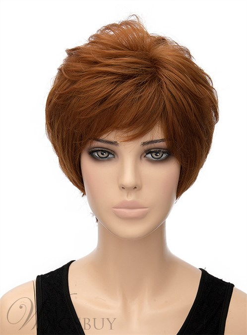 Best Selling Fluffy Short Wavy Capless Synthetic Hair Wig 8 Inches 12440953